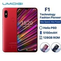 UMIDIGI F1 6.3 Waterdrop FHD+ Display Helio P60 Android 9.0 4GB RAM 128GB ROM 5150mAh 18W Fast Charge Smartphone NFC 16MP Phone