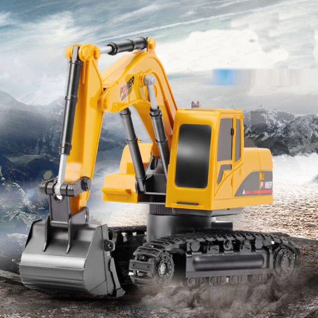 2.4Ghz 6 Channel 1:24 RC Excavator toy RC Engineering Car Alloy and plastic Excavator RTR For kids Christmas gift 1