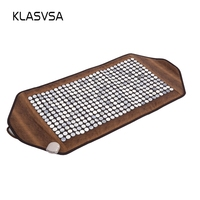 KLASVSA Infrared Heating Jade Stone Mat Massage Physical Therapy Body Back Massage Mattress Pad Pain Relief Stone massager relax