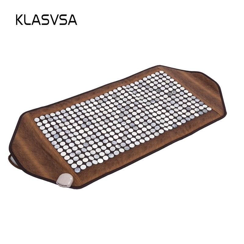 Klasvsa инфракрасный обогрев камня нефрита коврик массажный физиотерапия тела массаж спины наматрасник боли камень Массажер Relax