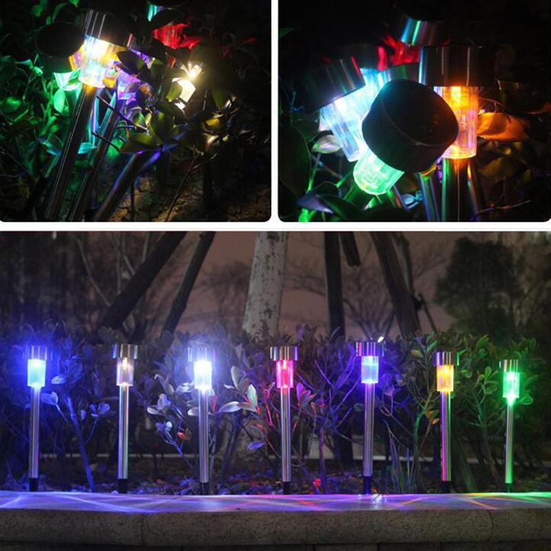 5PCS Led Solar Light Waterproof LED Solar Powered Lawn Lights Street Landscape Yard Lamp for Garden Decoration Outdoor Pathway