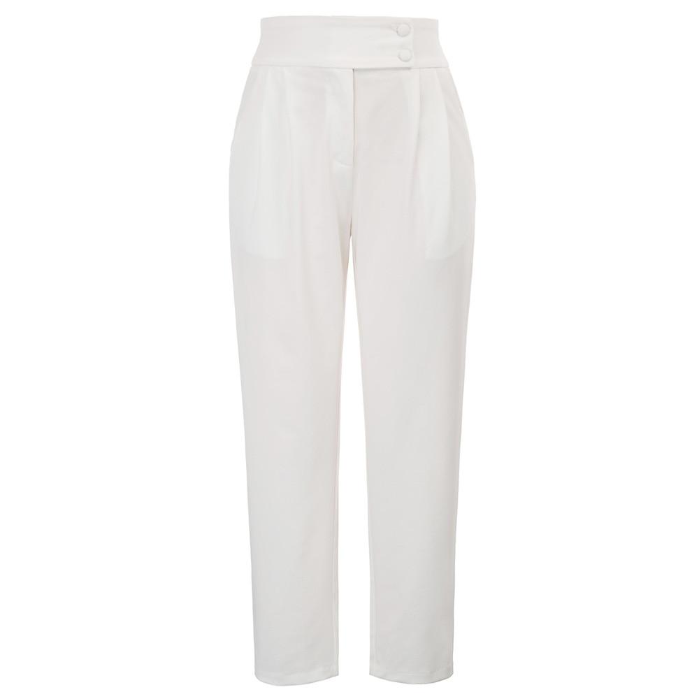 GK Women trousers autumn casual solid color High Waist pocket Office lady work wear elegant   Capri   Cropped   Pants   pantalon femme