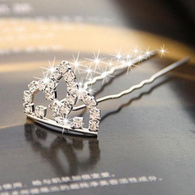 6 см 3 дюйма гребень невесты свадебное украшение горный хрусталь ребенок принцесса Красота волос Корона Повседневная мини серебро открытый 2 Вечерние