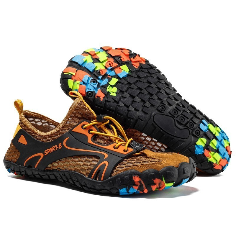 Image 2 - VEAMORS Outdoor Sneakers Non slip Hiking Shoes For Men Women Walking Trekking Sneakers Unisex Breathable Mesh Upstream ShoesHiking Shoes   -