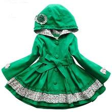 Пальто для девочек; сезон весна-осень; детская модная ветровка с длинными рукавами