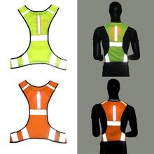 Unisex Outdoor Night Riding Running LED Light Reflective Vest Sports Vest