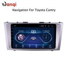 9 дюймов Android 8,1 полный сенсорный экран автомобиля мультимедийная система для Toyota Camry 2011-2007 автомобильный gps Радио Навигация