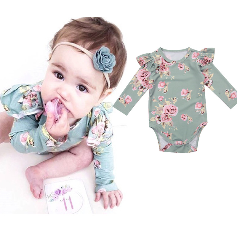 Newborn Baby Girls Floral Tops Romper Outfits Bodysuit Clothes Outfits Climbing Suit Baby Bodysuits Baby Girl Clothes Body SuitNewborn Baby Girls Floral Tops Romper Outfits Bodysuit Clothes Outfits Climbing Suit Baby Bodysuits Baby Girl Clothes Body Suit