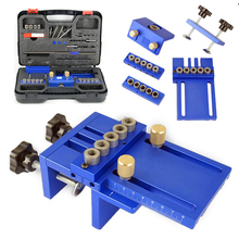 28Pcs Woodworking Hole Jig Kit Angle Drill Guide Set Hole Puncher Locator Jig Drill Bit Set for DIY Carpentry Tools все цены