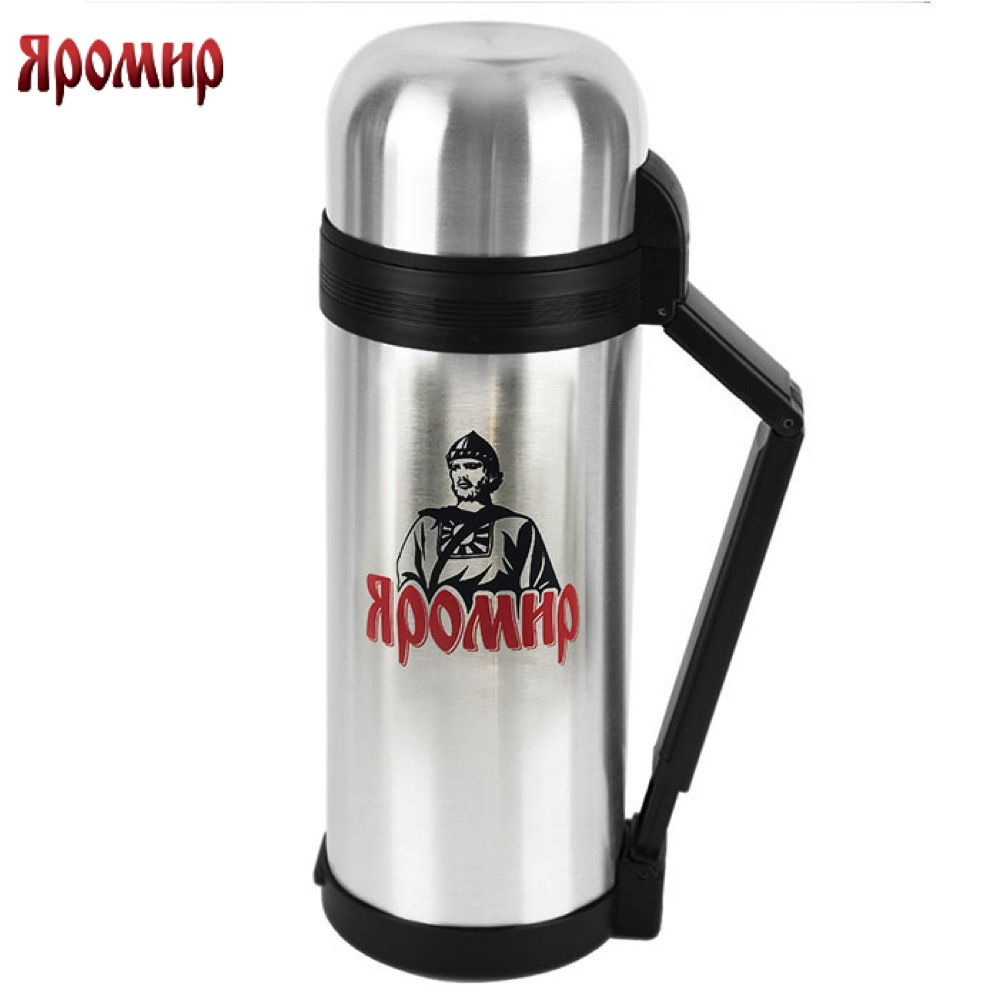 Vacuum Flasks & Thermoses Yaromir YAR-2015M thermomug thermos for tea thermo keep сup stainless steel water mug food flask 9 stainless steel food utility tong