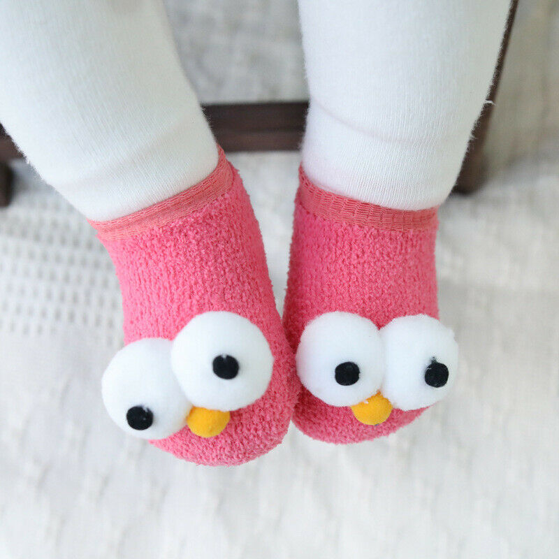 2019 HOT Baby Kids Soft Woolen Socks Toddler Winter Warm Thick Non-slip Socks UK