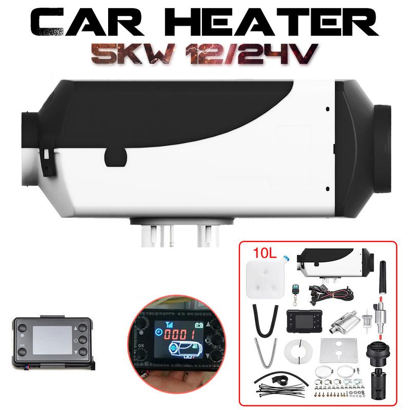Réchauffeur de voiture 5KW 12 V/24 V Air Diesels chauffage de stationnement avec moniteur LCD télécommande pour camping-Car camping-Car camions bateaux