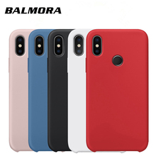 BALMORA Liquid Silicone Case For Xiaomi Redmi 7 6 6a 6pro Protective Original Back Cover Note 5 Pro phone shell