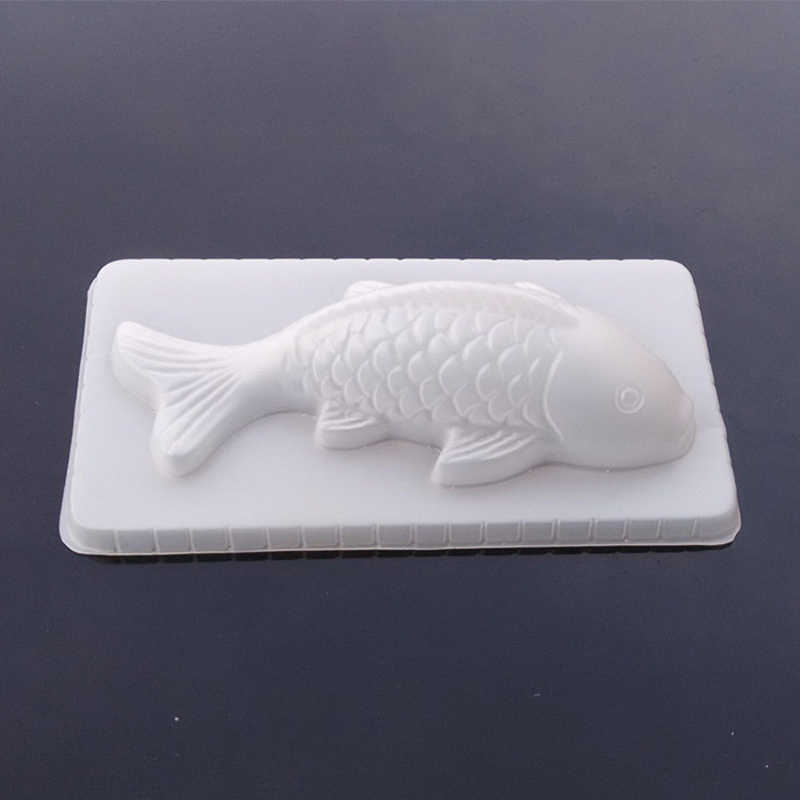 TOFOK DIY 3D ปลา Koi ปลาคาร์พแม่พิมพ์พลาสติกวุ้น Handmade Sugarcraft แม่พิมพ์ Mousse เค้กพุดดิ้งช็อกโกแลต Mould อบเครื่องมือ