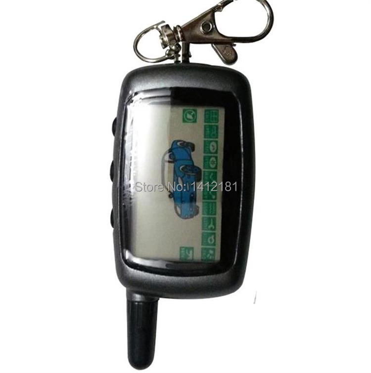 Wholesale Russian A9 LCD Remote Control Key Fob For Starline A9 Keychain Twage Two Way Car Alarm System / It Also Fits A6