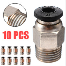 3D Printer Pneumatic Connector Bowden Extruder V6 J-head Hotend PC4 Straight Tube Quick Coupler J-head Fitting Connectors