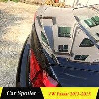 For Volkswagen Passat 2013 2014 2015 Auto ABS Plastic Rear Trunk Wing Lip Spoiler Car Accessories for Volkswagen Passat