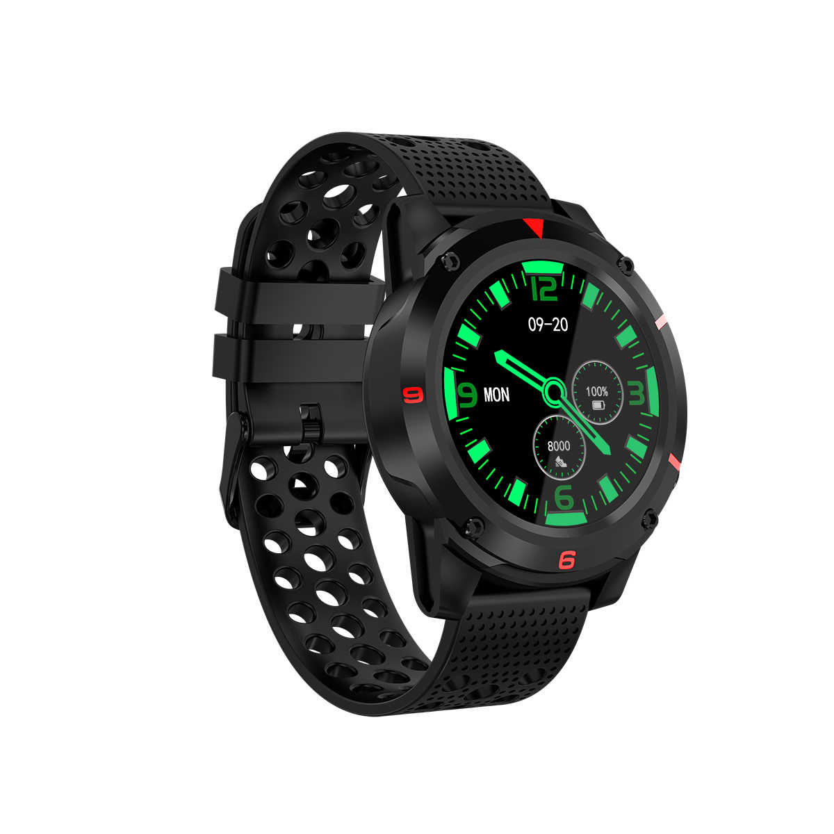 M26 1.3' bluetooth Call Smart Watch Phone Waterproof Heart Rate GPS/GLONASS-Compass Altimeter Activity Record Smart Watch Men