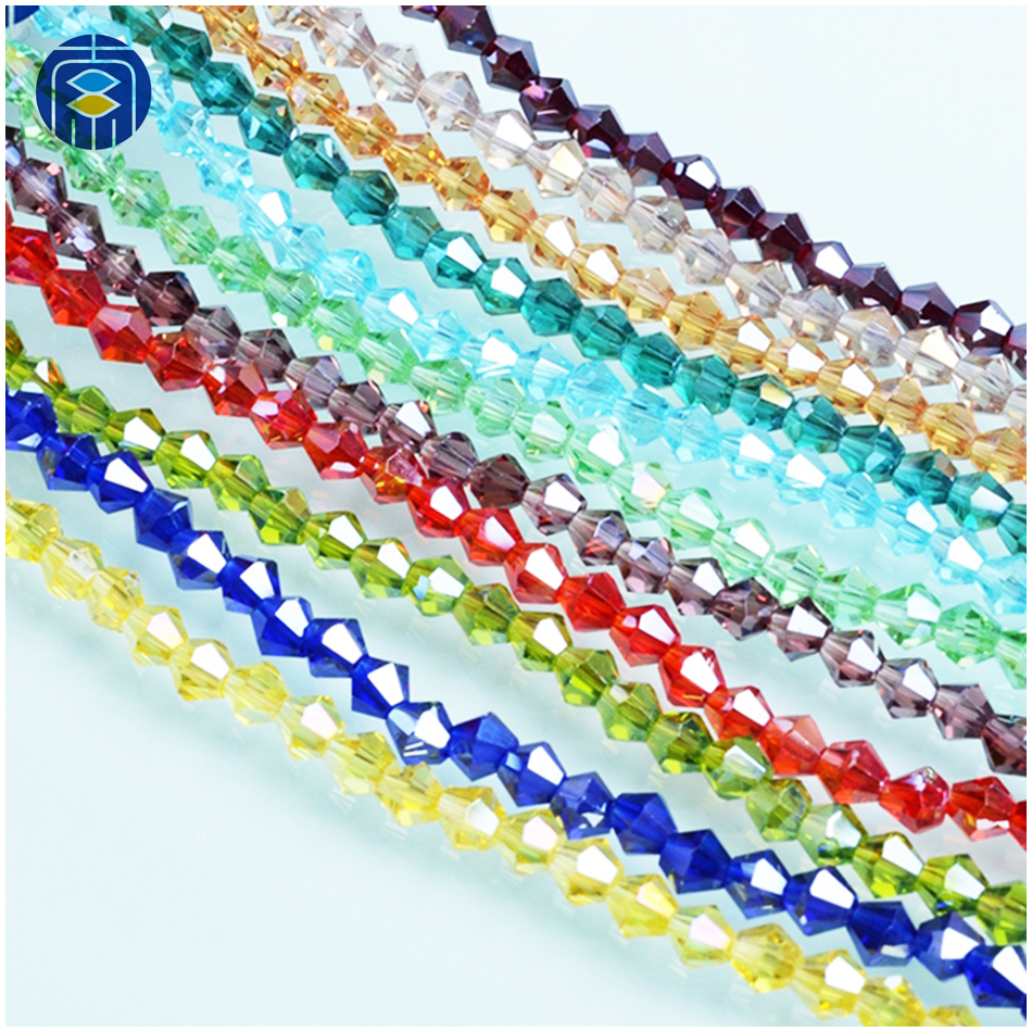 Crystal AB Color Bicone Beads 4mm Czech Crystal Beads for DIY Jewelry Necklace Bracelet
