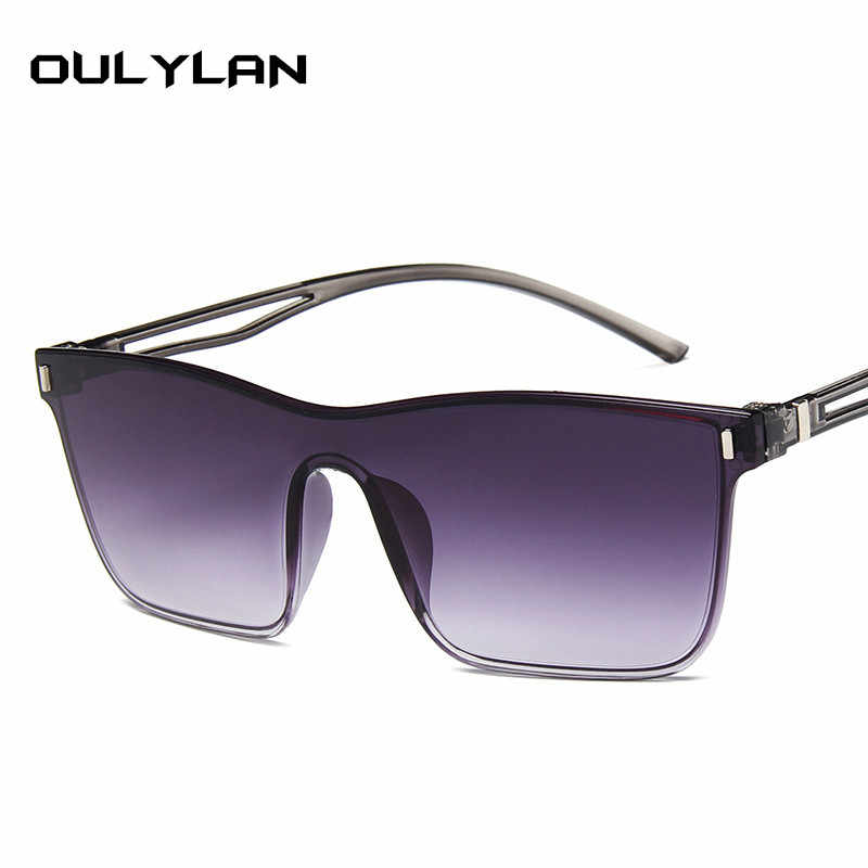 38262711c0 ... Oulylan Oversized Sunglasses for Women Retro Brand Sun Glasses Ladies  Colorful Gradient Sunglasses Fashion Big Frames ...