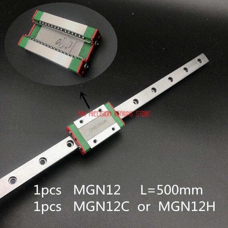 2018 förderung Linear Schiene Hiwin 12mm Linear Guide Mgn12 L = 500mm Schiene Weg + Mgn12c Oder Mgn12h lange Wagen Für Cnc X Y Z Achse