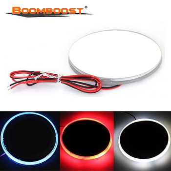 Car Styling Waterproof 82mm Fit for BMW 3 5 7 Series X3 X5 X6 Z4 Background Badge Emblem Logo LED Light Lamp Sticker 3 Colors image