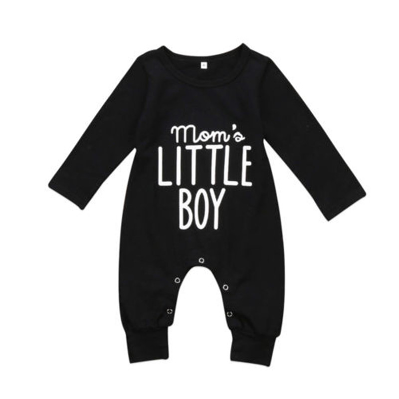 CANIS 2019 New Fashion Newborn Toddler Infant Baby Boys   Romper   Long Sleeve Jumpsuit Playsuit Little Boy Outfits Black Clothes