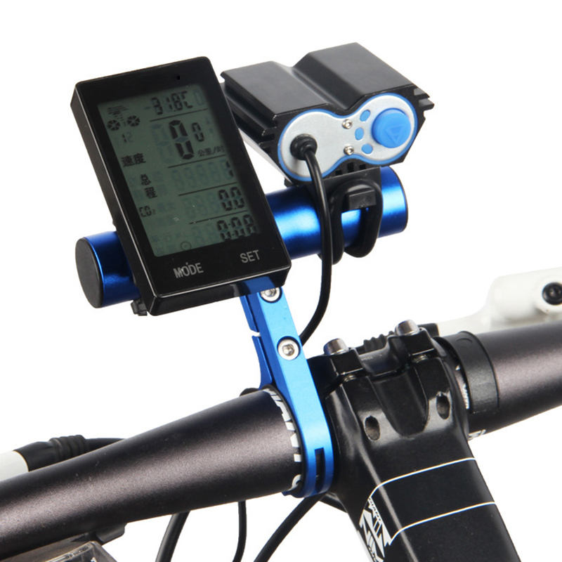 10cm 20cm Bicycle Handlebar Aluminum Alloy MTB Bike Extender Holder Lamp Bracket Clamp Cycling Handlebar Flashlight Holder Stand in Bicycle Handlebar from Sports Entertainment