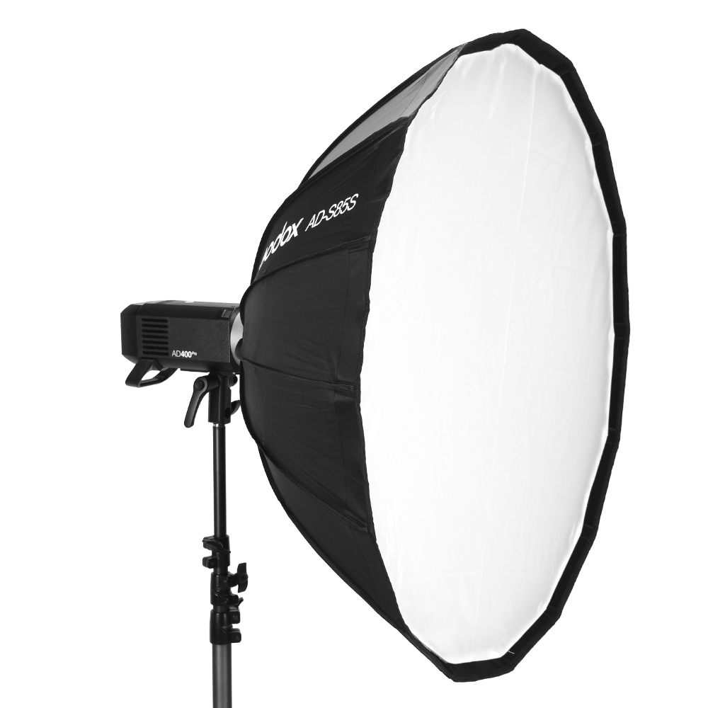 Godox AD-S85S 85cm Silver Deep Parabolic Softbox with Honeycomb Grid Godox Bowns Mount Softbox for AD400PROGodox AD-S85S 85cm Silver Deep Parabolic Softbox with Honeycomb Grid Godox Bowns Mount Softbox for AD400PRO