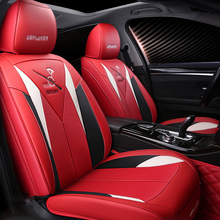 Universal 5D Car Seat Cover 5 seats Cushion Senior Microfiber Leather/Carbon Leather/Sponge Layer Styling For Sedan SUV