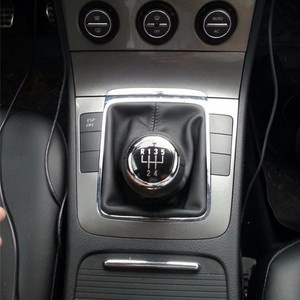 Image 5 - 5/6 Speed Car Gear Shift Knob Stick Gaiter Boot Frame With Cover Case Kit For VW Passat B6 2005 2006 2012 Gear Shifter Knob