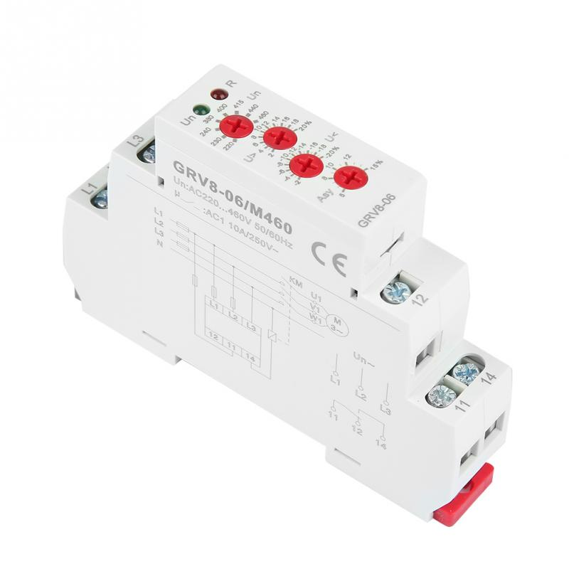 US $13 55 33% OFF|GRV8 06 3 Phase Voltage Monitoring Relay Phase Sequence  Phase Failure Protection M460 High Quality-in Relays from Home Improvement
