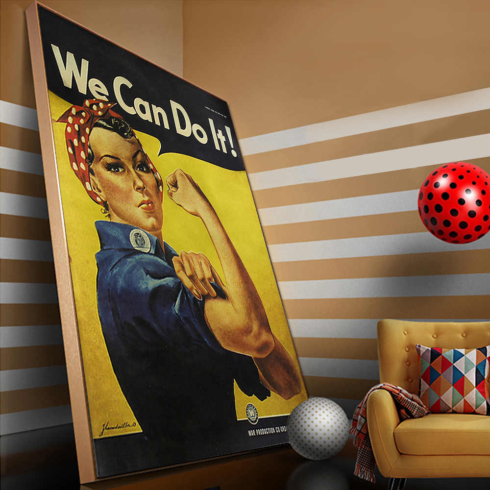 Vintage Kraft Paper We Can Do It BEER Poster Antique Wall Art Crafts Sticker Living Room Paint Bar Cafe Decor