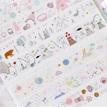 25mm X 3m Planet Sweet Travel Waterproof PET Washi Tape Transparent Hand Paint Sticker Pocket Helper Planner Adhesive