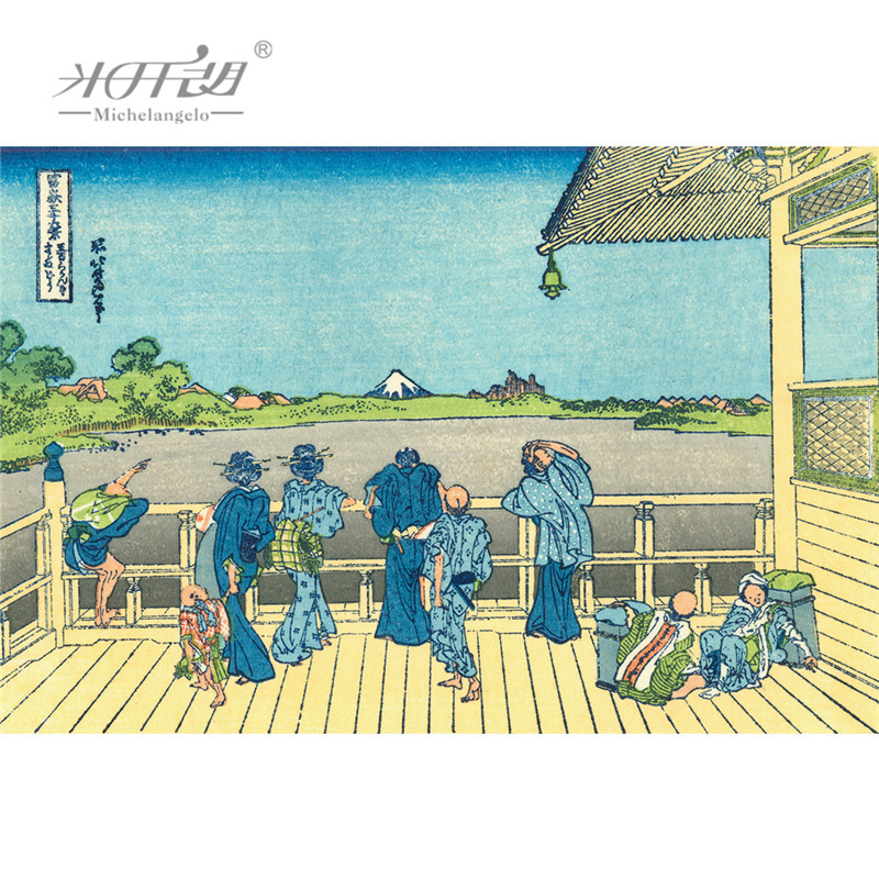 Puzzles Toys & Hobbies Michelangelo Wooden Jigsaw Puzzles Ukiyoe 36 Views Of Mount Fuji Under Mannen Bridge At Fukagawa Educational Toys Painting Decor
