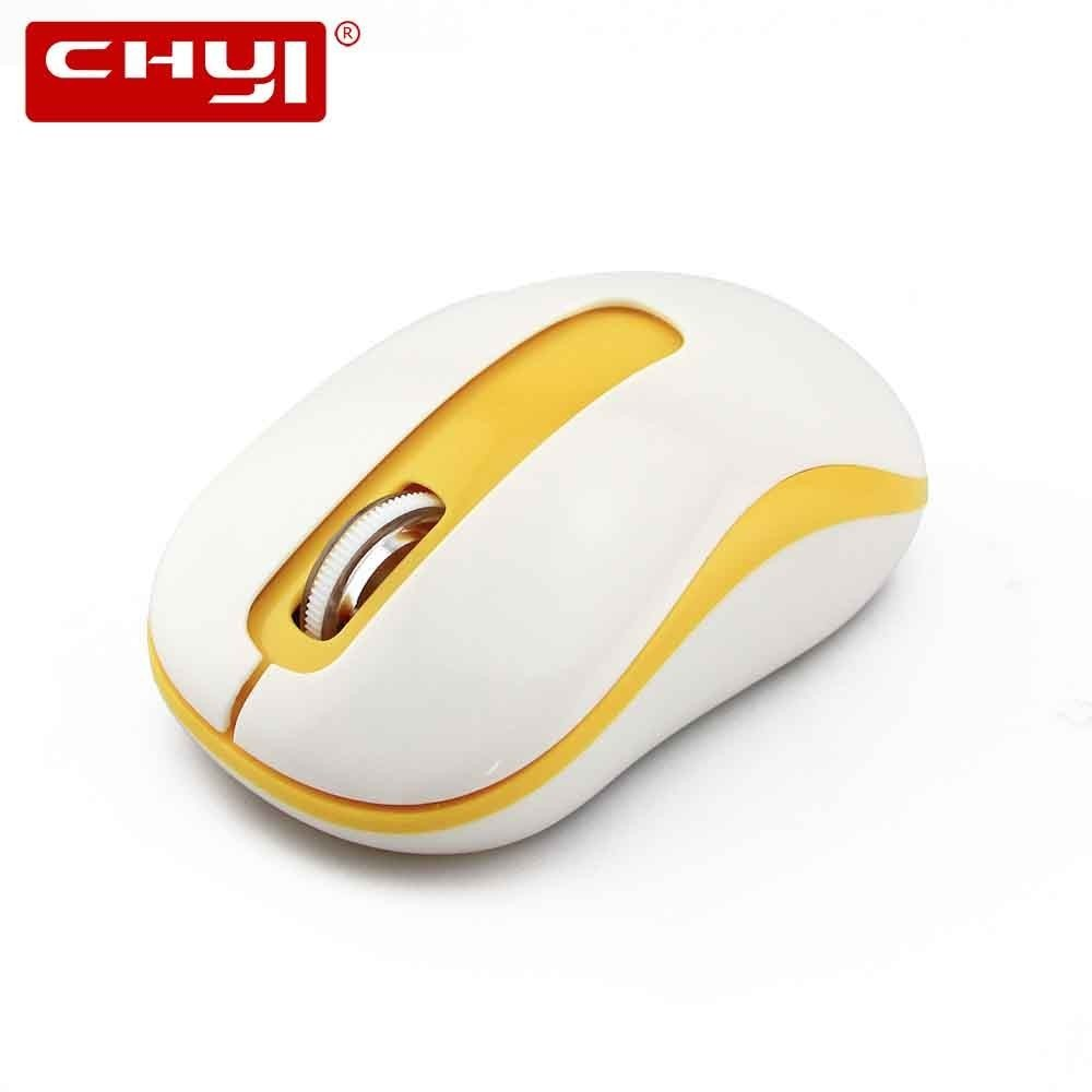 CHYI Wireless Computer Mouse Mini Optical Portable 3D Gaming Mause Cheap Light Color PC Game Mice With Usb Receiver For Laptop image