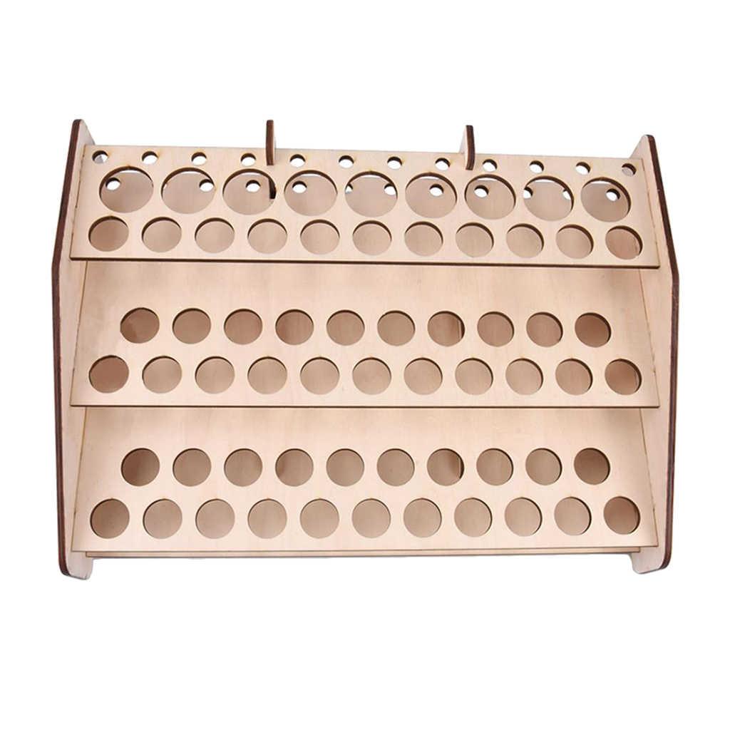 تخزين خشبي حامل أرفف فرشاة الطلاء المنظم للاكريليك Mr هواية Mr لون نموذج الطلاء #124