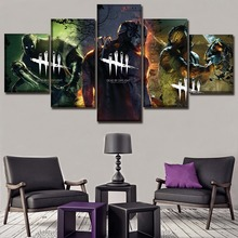 Modular Picture 5 Piece Game Dead by Daylight Poster Modern Living Room Wall Art Home Decorative Framework Canvas Print Painting