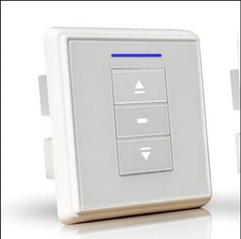Smarthome Push Button Wanel Switch Wall Light or Curtain Switch 2gang 2way 110~240V ACinput To DC output,1 Way or Two way