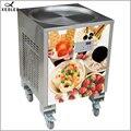 XEOLEO Thailand Fry Ice machine Roll Ice cream maker 50CM Ice Frying machine800W Yogurt machine R410A Round shape pot 110/220V