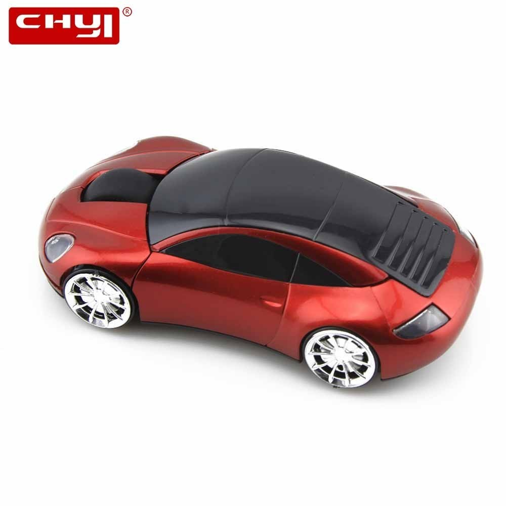 CHYI Wireless Car Mouse Mini 3D Cartoon Auto Muis Computer Optical Gaming Mause 1600DPI Ergonomic Usb PC Gamer Mice For Laptop