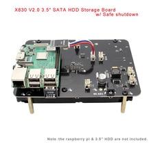 """Raspberry Pi X830 3.5 """"SATA 3.5 Inch Mở Rộng Lưu Trữ Bảng Tắt An Toàn Cho Raspberry Pi 3 Model B +(Plus)/3B/Rock64"""