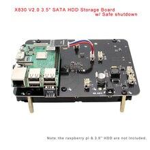 """Raspberry Pi X830 3.5 """"Sata 3.5 Inch Hdd Opslag Uitbreidingskaart Met Veilige Uitschakeling Voor Raspberry Pi 3 Model B +(Plus)/3B/Rock64"""