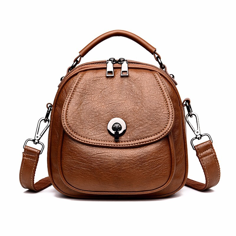 2019 Multifunction Backpacks For Girls Mochila Feminina Women Leather Backpacks High Quality Preppy Style Small Bagpack Vintage 2019 Multifunction Backpacks For Girls Mochila Feminina Women Leather Backpacks High Quality Preppy Style Small Bagpack Vintage
