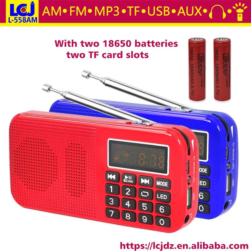 Radio Freies Verschiffen L-558am Digitale Mp3 Musik Player Lautsprecher Mini Tragbare Mini Auto Fm Am Mw Tasche Radio Empfänger Mit 18650 Batterie Reich Und PräChtig