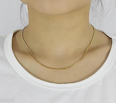 Nouveau pur Au750 18 K or jaune femmes hommes 1.5mm Milan lien collier 16 pouces