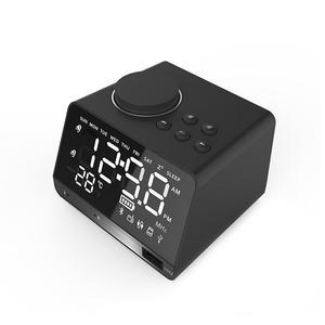 Image 2 - ポータブルスピーカー X11 スマートデジタルアラーム時計傷のつきにくいミラー Bluetooth プレーヤーステレオ Hd 音 Devies ホームオフィス
