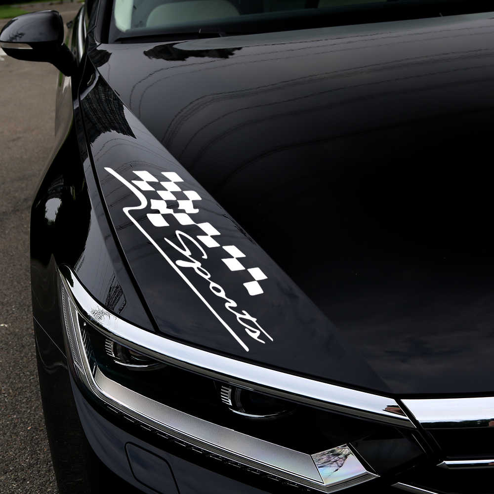 Adesivi per Auto Racing Sports Flag Sticker vinile riflettente Car-Styling creativo divertente decalcomanie per Auto decalcomania per Auto moto