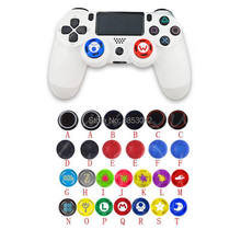 4 Pcs Silicone Analógico Thumb Vara Grips Capa Para Playstation 4 PS4 Pro Magro Para PS3 Controlador Thumbstick Caps Para xbox 360 Um(China)