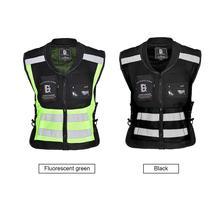 Защитный светоотражающий жилет для бега для велоспорта ультра легкий удобный большой объем карман для хранения мото Светоотражающая куртка без рукавов